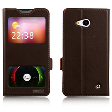 Window Cover Case For Nokia Lumia 640 N640 Top Quality Genuine Leather Magnet Flip Stand Mobile Phone Bag + free gift