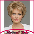 Medusa hair products: Synthetic pastel wigs for women Short shag styles straight Mix color wig with bangs  Pelucas cortas SW0085