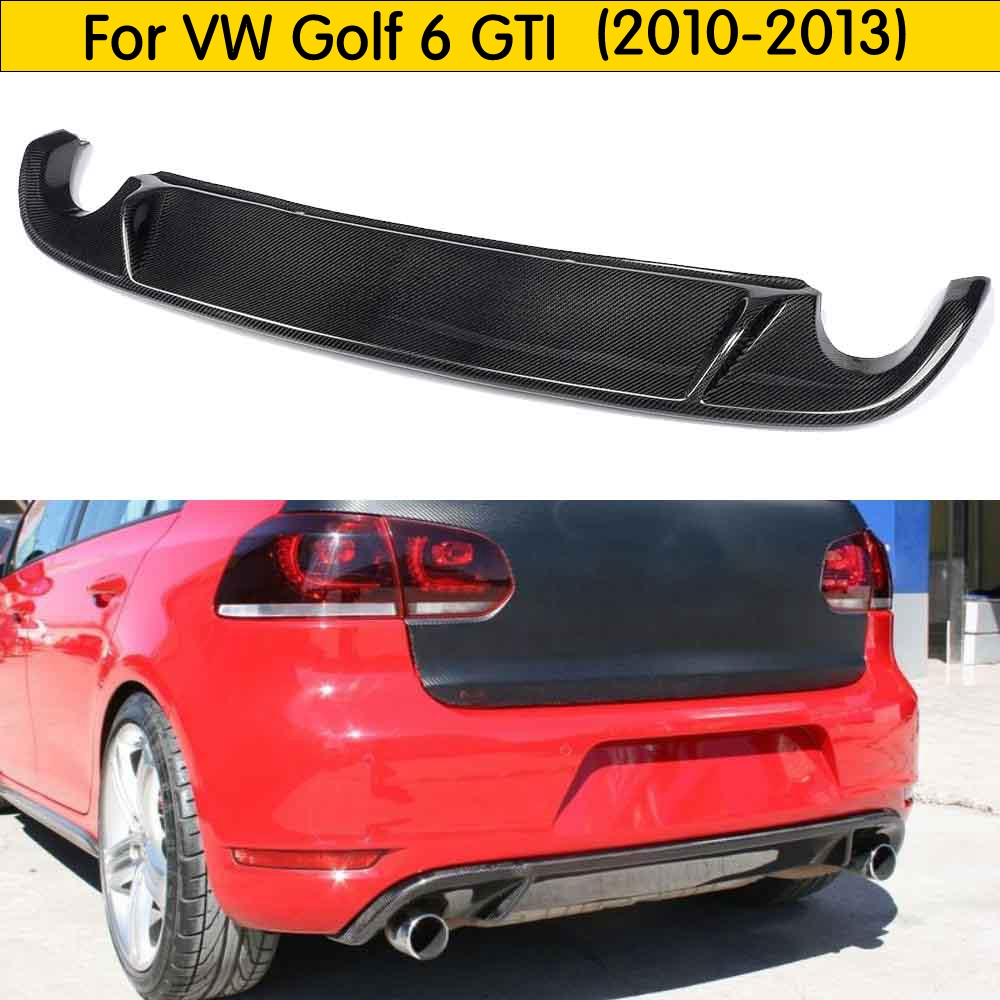MK6 GTI Style Carbon Fiber Rear Bumper Lip Diffuser for Volkswagen VW Golf 6 MK6 GTI 2010 2013