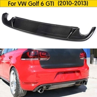 For MK6 Carbon Fiber Rear Bumper Lip Diffuser for Volkswagen VW Golf 6 MK6 GTI 2010 2013