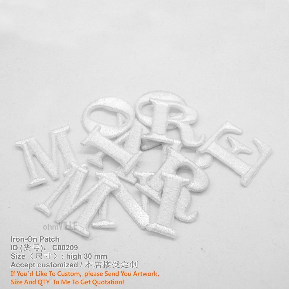 Doprava zdarma 26 anglických písmen vyšívaných patchů Podpora - Umění, řemesla a šití