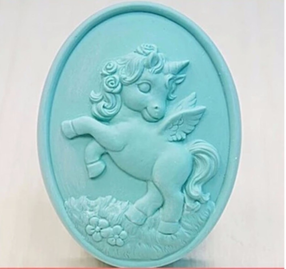 Unicorn Horse Mould S350 Craft Art Silicone Soap Mold Craft Molds DIY Handmade Candle Molds Unicorn Horse Mould S350 Craft Art Silicone Soap Mold Craft Molds DIY Handmade Candle Molds