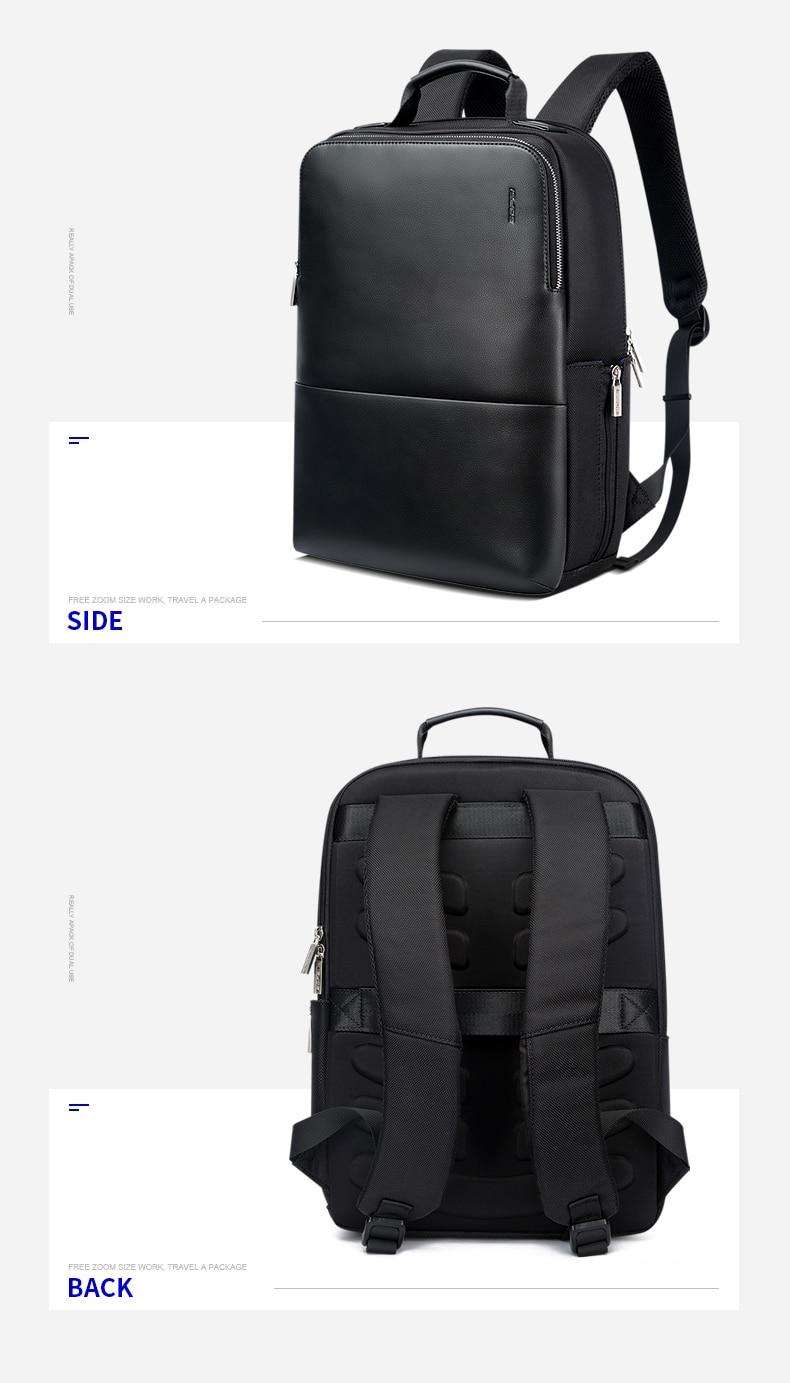 18 BOPAI Brand waterproof 15 inch laptop backpack men backpacks for teenager girls black leather male school backpack bag men 9