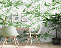 beibehang Southeast Asian Rainforest Plant Wall paper Vintage Nonwoven Nordic Leaf Bedroom Background papel de parede Wallpaper