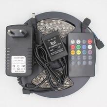 300led Музыка Контроллер RGB SMD5050 СВЕТОДИОДНЫЕ полосы Комплекты голос датчик ИК 20 Ключевых контроллер 12V3A адаптер для паб для дома для партии