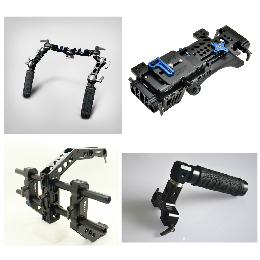 Tilta III Baseplate shoulder pad + Universal Handgrisp + C shape arm cage + Top handle for DSLR Pro Rig 5D3 D800 BMCC C300 lanparte luxury bmcc 03 top handle cage v mount vb 150 battery quick release shoulder support baseplate a b follow focus
