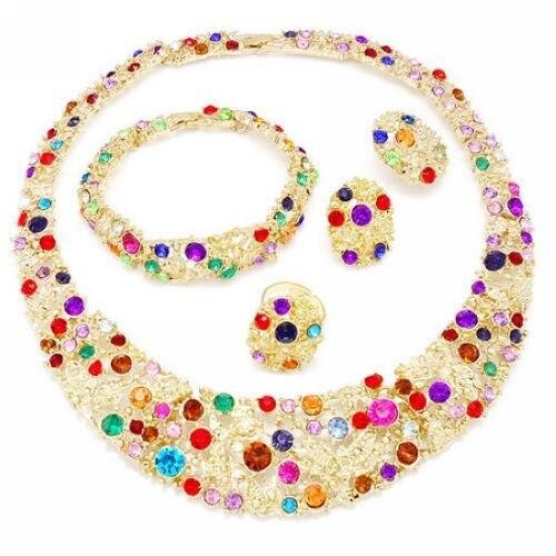 new arrival 18 carat gold necklace jewelry setsfashion dubai gold
