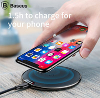 Baseus PU Leather Qi Wireless Charger For IPhone X 8 Samsung Note 8 S8 S7 S6