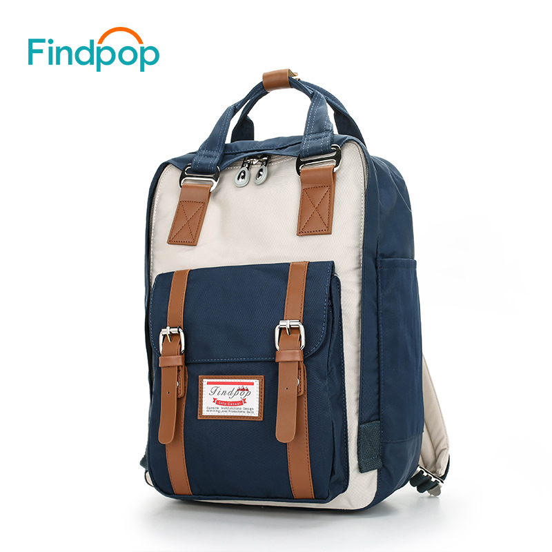 Findpop Women Backpacks Mochilas Patchwork Kanken Large-Capacity Vintage