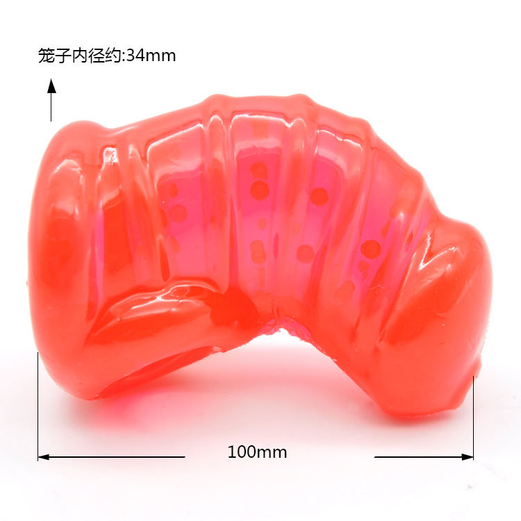 Buy Soft TPR  Chastity Cage Spiked Transparent Penis Sleeve Cock Cages  Chastity Devices Sex Toys Men