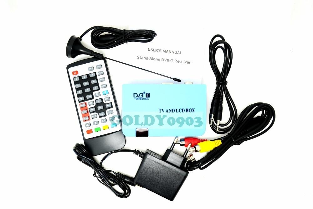 EU plug Digital font b TV b font Box LCD CRT VGA AV Tuner DVB T