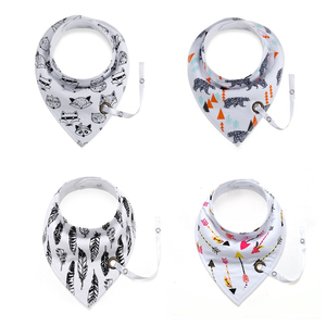 Baby Bibs Cotton Infant Feeding Towel Bibs Cartoon Newborn Girls and Boys Toddler Triangle Scarf Bandana Cute Burp Cloths(China)