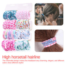 6PCS/Lot Lovely Elastic Headband Good Quality Hair Holder Accessories Tie Gum Hot Sale Girls Cute Color Hair Band Pink Print Dot