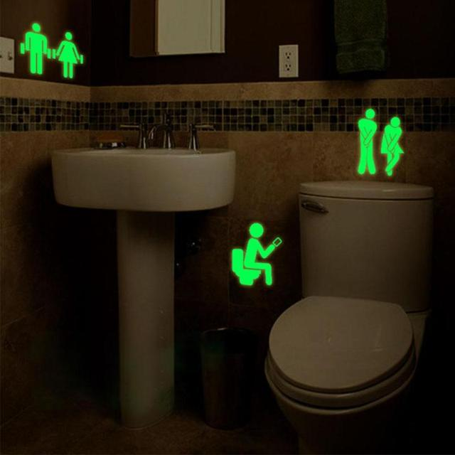 Luminous WC Eingang Zeichen Aufkleber Pvc aufkleber Für Shop Büro ...