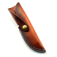 Vegetable Tan Cowhide Knife Cover / Scabbard Genuine Leather Small Straight Knife Cover Leather Knife Set Leather Case