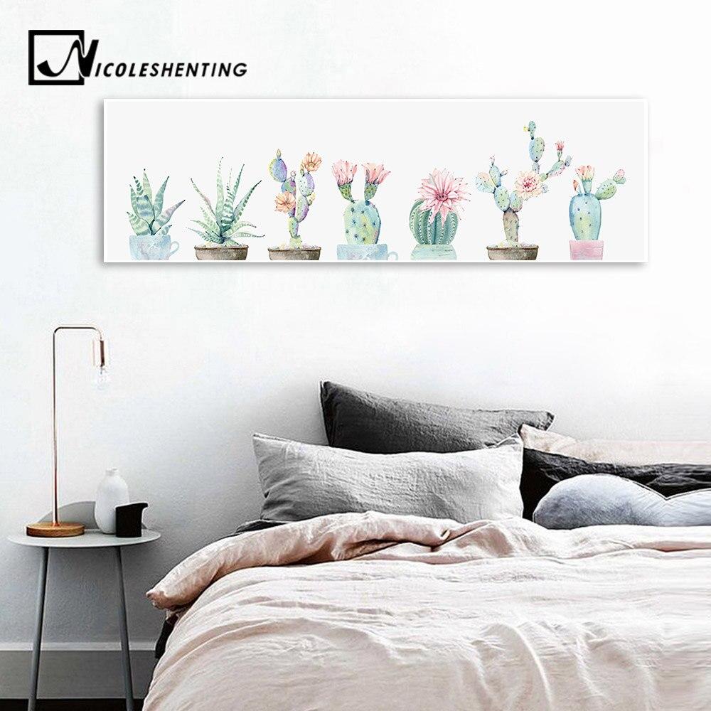 Fleur Pour Decoration Salon fleur de cactus plante de décoration mur art toile affiche et impression  paysage peinture long mur photo pour salon décor À la maison