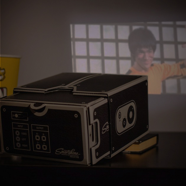 Projecting Aratus Diy Mobile Phone Smartphone Projector Cardboard Mini Portable Home Cinema Opaque Instrument