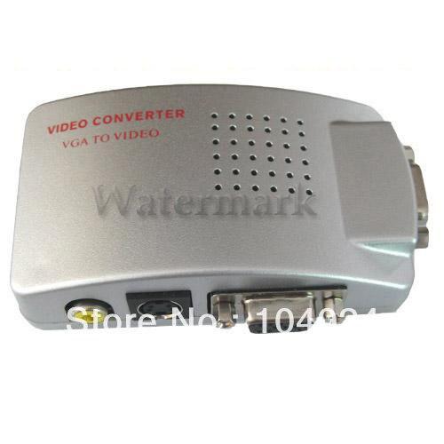 Free ship NEW PC Laptop VGA to RCA AV TV S-Video Converter Box