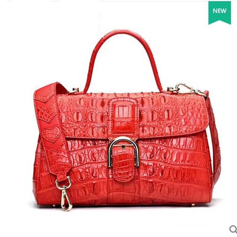 2018 hlt 2017 new Thai crocodile women handbag women's bag with a European dinner small square package dadi1 dadi hlt 102
