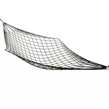 Hot Selling camping Outdoor Portable Hammock Cot Bed Nylon Mesh Net Hammock with Metal Loops(China)