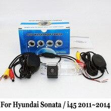 Для Hyundai Sonata YF/i45 2011 ~ 2014/RCA Проводной Или Беспроводной автомобильная Камера Заднего вида/CCD Ночного Видения HD Широкоугольный Объектив камера