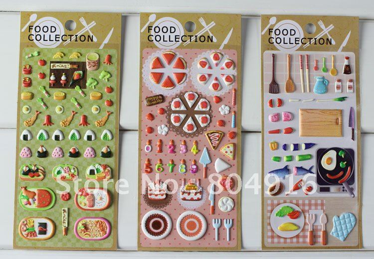 Sales tokyo restaurant sticker creative food design diy sticker deco sticker 24pcs lot randomly delivery st0549 in wall stickers from home garden on