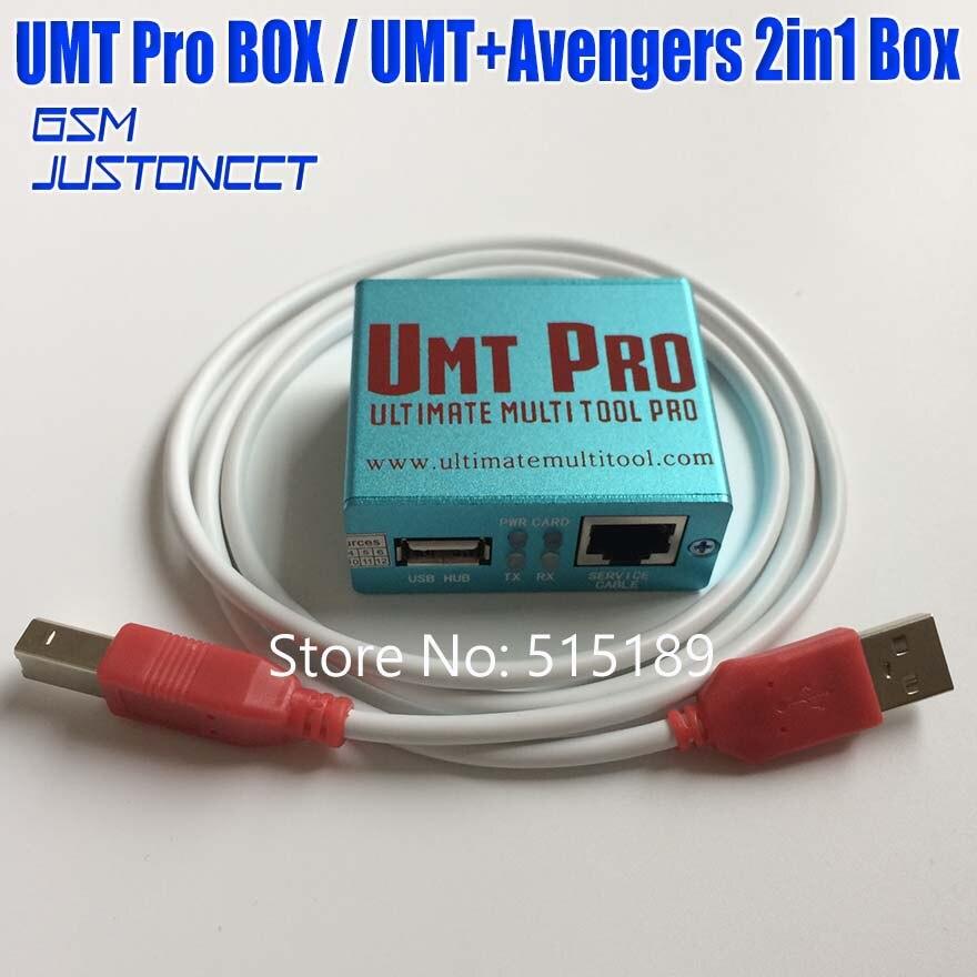 Gsmjustoncct Original date 100% Original UMT Pro 2 boîte UMT + Avengers 2in1 boîte avec 1 câbles USB livraison gratuite