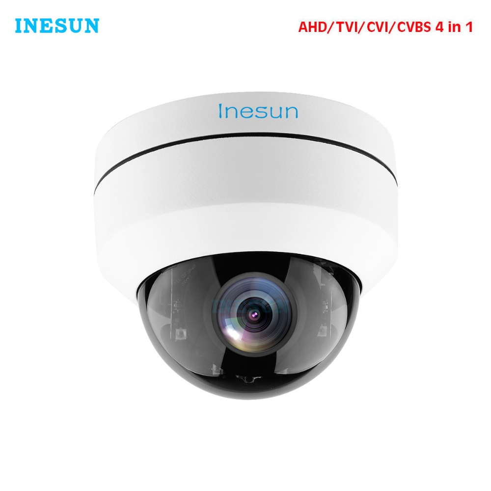 Inesun VandalProof Outdoor Security Camera 2MP 1080P 2.8-12mm 4X Vari-Focal Lens 4 in 1 (AHD/TVI/CVI/CVBS) 100ft IR Night Vision все цены
