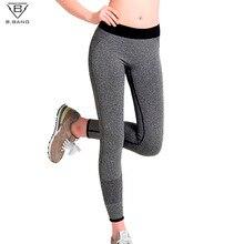 Капри спортзала b.bang фитнеса бега быстросохнущие эластичные штаны леггинсы спортивные женские