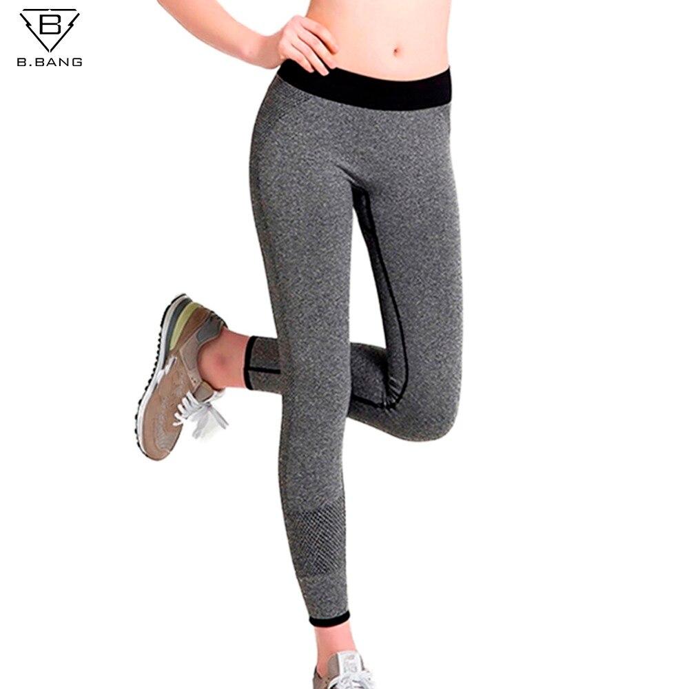 Prix pour B. BANG Femmes Sport de Course Pantalon Gym Collants pour Femme Fitness Leggings Séchage rapide Pantalon Élastique Capris ropa deportiva