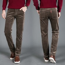 High Quality New Autumn and Winter 2016 Male Business Men's Trousers Straight Corduroy Corduroy Pants Breathable Casual Pants