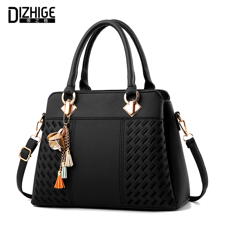 DIZHIGE Brand Fashion Pendant Women Handbags Designer Ladies Hand Bags Shoulder High Quality PU Leather Bag Women Sac Femme 2017 bolsas femininas 2016 designer handbags high quality casual canvas bag women handbags sac femme tote ladies shoulder hand bag