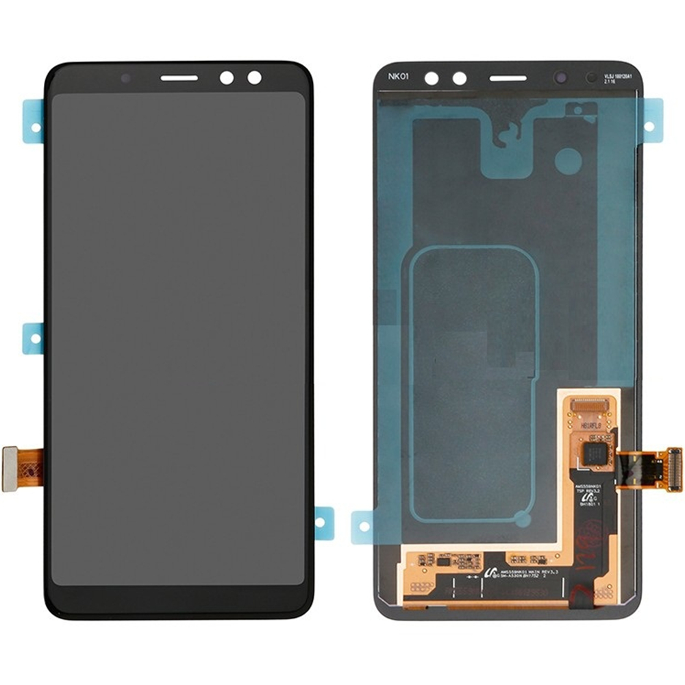 AMOLED For Samsung Galaxy A8 (2018) A530 <font><b>A530F</b></font> LCD <font><b>Screen</b></font> and Digitizer Assembly <font><b>Replacement</b></font>!!(Black) image