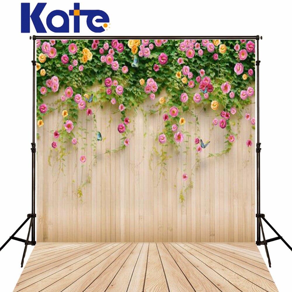 케이트 150X220CM 사진 배경 옅은 노란색 꽃 나비 벽 - 카메라 및 사진