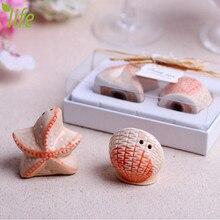 Starfish & Fish Ceramic Spice Tool Utility Sugar Pepper Shakers Kitchen Cooking Tool Wedding Gift 2 Pcs/set Free Shipping