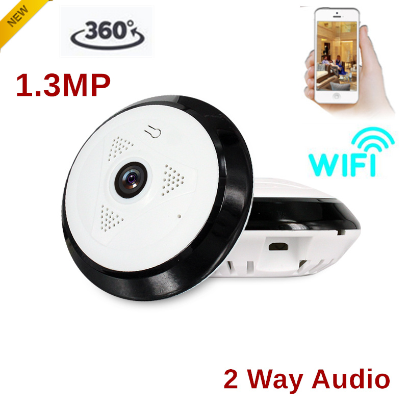 Panoramic Wireless Wifi Camera 360 degree 1.3MP 960P Support 2 way audio Built-in Speaker and Mic Support SD card max 128g ночная сорочка 2 штуки quelle arizona 589493