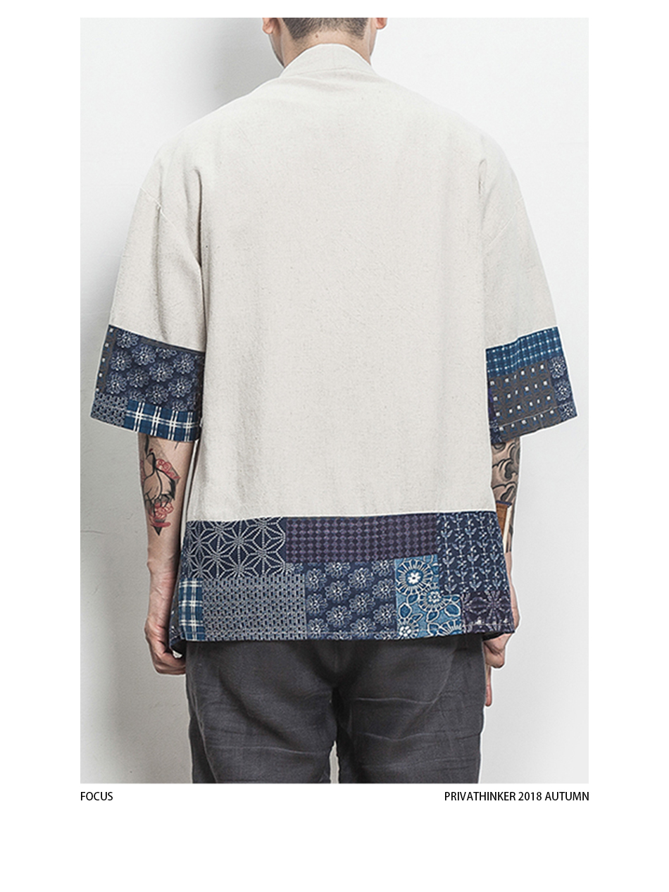 HTB1oEPbHXmWBuNjSspdq6zugXXa2 Drop Shipping Cotton Linen Shirt Jackets Men Chinese Streetwear Kimono Shirt Coat Men Linen Cardigan Jackets Coat Plus Size 5XL