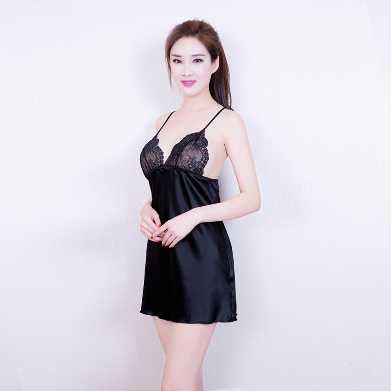 Silk Gowns For Women: Selebritee Sleep Dress Sexy Satin Sleepwear Silk Nightgown
