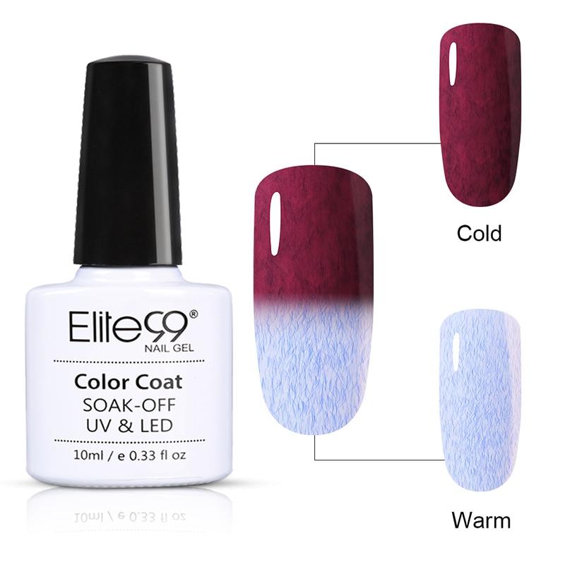 Elite99 Fur Gel Nail Polish 10ml Temperature Color Change Magic Gel ...