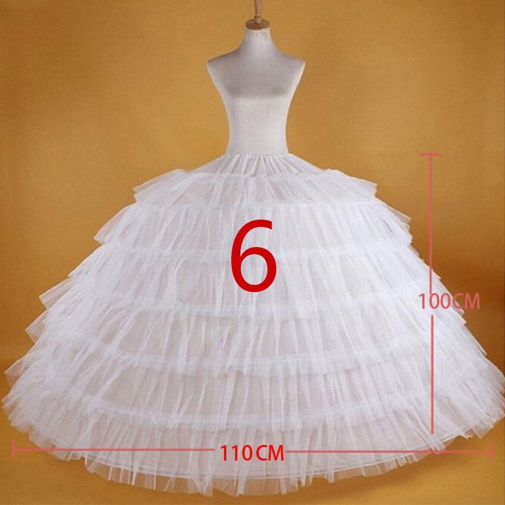 2019 New Hot Sell Bridal Wedding Petticoat Hoop Crinoline Prom Underskirt Fancy Skirt Slip 3