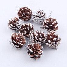 9 шт. рождественские сосновые шишки безделушка Рождественская елка подвесные украшения для вечеринки рождественские украшения