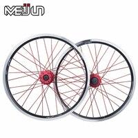 20 Inches 406 Folding Bike Bmx Wheelset V Disc Brake Wheel Bicycle Clincher Rim Parts Free