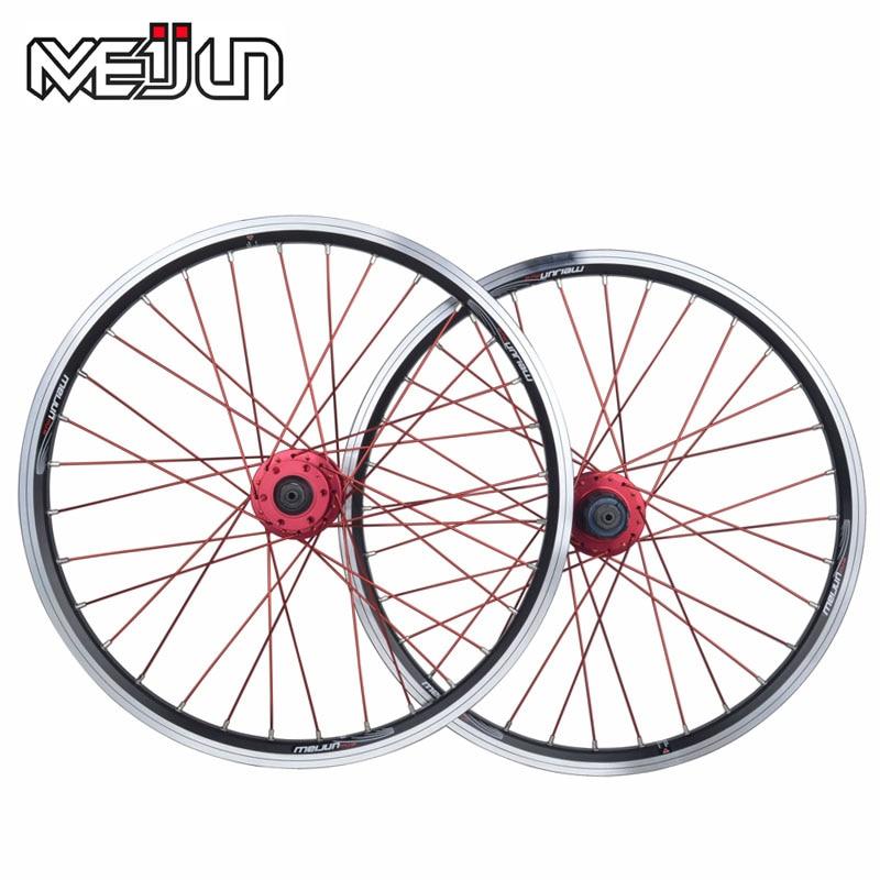 20 Inches 406 Folding Bike Wheelset V Disc Brake Wheel Bicycle Clincher Rim taok original 20 inch 20 holes 406 rim folding bicycles mountain disc brake wheel wheelset