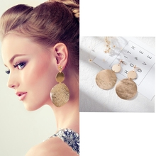 European and American personality temperament retro geometric frosted pieces with earrings wholesale