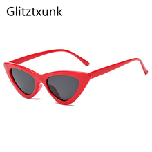 JAXIN New Sunglasses Trend Triangle Cat Eyes Retro Small Frame couple