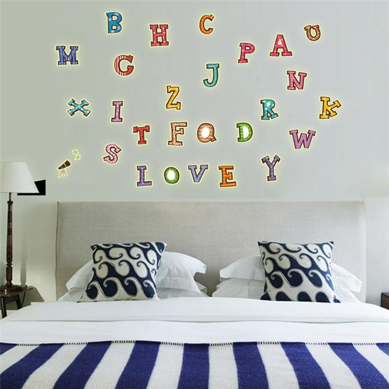 creativa carta luminosa pegatinas de pared sper nios vinilos murales tatuajes de pared para nios habitacin
