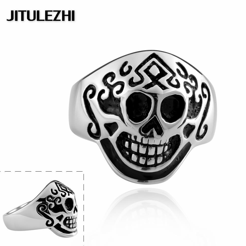 Stainless steel ornaments - Men S Stainless Steel Punk Style Ring Men S Jewelry Wedding Rings Super Offer Trendy Christmas Gifts Ornaments