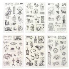 10 упаковок/партия черно белые классические винтажные европейские