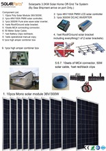 Boguang Solarparts 1x 3000W Solar Home off-grid tie systems solar kit by sea 300W Poly solar modules bracket controller DIY hous