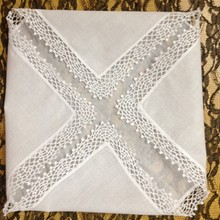 Модные белые женские носовые платки из хлопка, 12 шт./лот, 12x12 дюймов, хлопковый Свадебный носовой платок, Элегантный вышитый кружевной платок для невесты